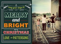 Vintage Ticket Custom Photo Holiday Card.