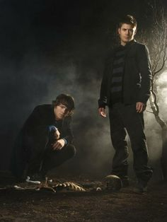 Supernatural in Bones promo pose, lol