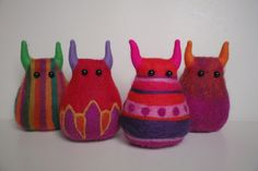 Hand crafts stuffed monsters!