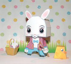 Fazendo a Minha Festa Infantil: Coelhinho de Páscoa 3D para Recortar e Montar!