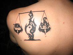 Zodiac Libra Tattoo