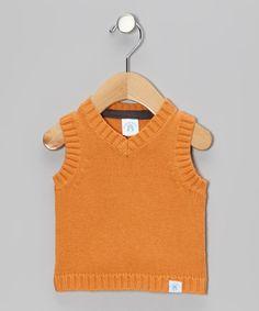 Look at this #zulilyfind! Orange Sweater Vest - Infant #zulilyfinds