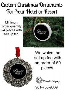 Custom Christmas Ornaments Fairmont Hotel  christmas christmasornaments customgifts custom gifts #CLcustomgifts