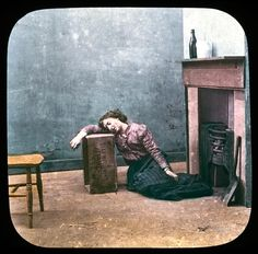It takes but a few sips before Margaret has neglected her household duties; she passes out, judgement so poor that she has mistaken a wooden box for a bed pillow. | This Cautionary Tale Of A Drunk Woman Is A Hilarious And Sad Victorian PSA