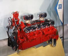 GMC Twin-Six GM V12 Engine Art Poster. Approx 5000 were built between '61 & '65.