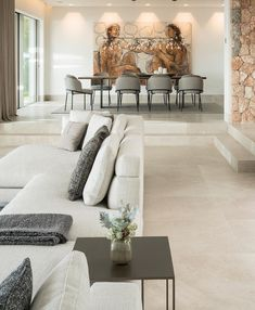 """""""The Cap Adriano experience"""" by Minotti Home Room Design, Dream Home Design, Dining Room Design, Luxury Dinning Room, Home Living Room, Interior Design Living Room, Living Room Decor, Interior Decorating Styles, Living Room Modern"""