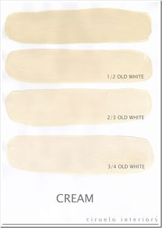 "Cream Excellent info from Ciruelo Interiors Blog; ""Annie Sloan Chalk Paint lovers: Here is my extended colours range"" show how the colors can be mixed to achieve huge color range~"