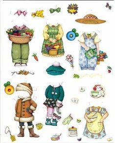 """Mary Engelbriet calendar set. """"Here's the 2006 ( i think?) Mary Engelbriet paper doll calendar (a few other sets too)."""""""