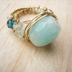 Jewelry Tutorial - Wire Wrapped Wide band Ring ...