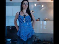 MAGLIETTA TIPO GYPSY ALL'UNCINETTO FACILE 1 di 3 - YouTube