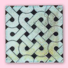 Endless knot ready for an endless #floor #tiling #tileaddiction #tiled #handmadetile #designer #design #geometric #floortiles by karak_tiles