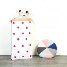 Paperbag étoiles pink