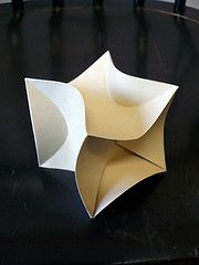 curved origami lamp - Google Search