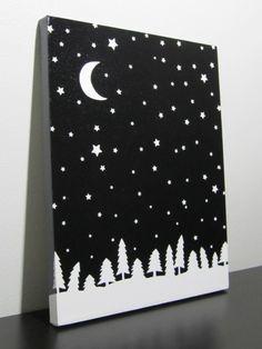 Advent Calendar Day 20 – starry night sky canvas | GirlsHeartBooks