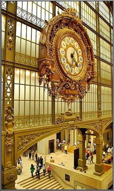Musée D'Orsay, Paris, France. The fabulous clock at the Musée D'Orsay, in Paris. Places To Travel, Places To See, Places Ive Been, Paris Travel, France Travel, Travel Europe, Usa Travel, European Travel, Paris France