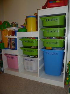 Items similar to Storage Labels for Children's Play (Toy) Room- Vinyl Lettering Decal Organization on Etsy