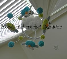 Owl crochet Mobile от ProudChildCrochet на Etsy