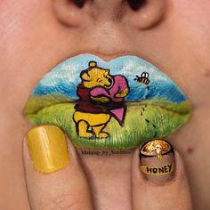 Pooh Bear Lip Art by Soolmoz Taylor (makeup_by_soolmoz)