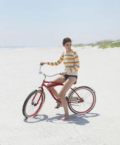At the beach with a bike (photo by Valerie Chiang)