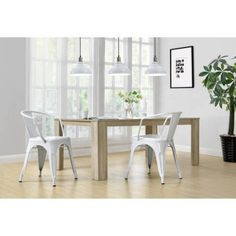 Dorel Home Products Elise Metal Dining Chair, Set of 2, Multiple Colors - Walmart.com