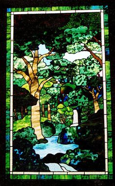 Fred Varney Stained Glass - Forest Stream Craftsman Windows, Fun Hobbies, Hanging Pendants, Home Art, Stained Glass, Art Gallery, Scenery, Mosaics, Beautiful Things