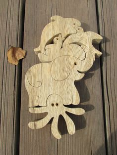 Educational Wood Toy Wood Puzzle on sale Natural от Tinocchio, $21.00