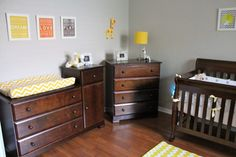 love the color scheme for a boy, not a fan of changing tables like this one