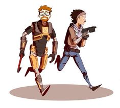 Gordon Freeman & Alyx Vance wallpaper containing a green beret called Gordon and Alyx