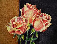 Roses - http://irina-sztukowski.artistwebsites.com/featured/2-roses-irina-sztukowski.html  #fineart #art #artwork #decoratehome #artgift #gift #painting #homedecor
