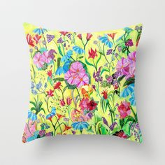 From my window Throw #Pillow by #Heaven7 - $20.00 #flowers