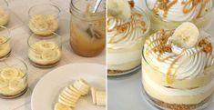 Delicious Caramel Cream And Banana Dessert Recipe - AllDayChic Banana Dessert Recipes, Köstliche Desserts, Cookie Recipes, Delicious Desserts, Other Recipes, Sweet Recipes, Comida Diy, Malteser Cake, Cocktail