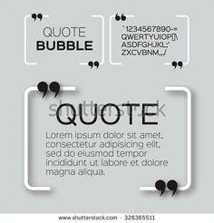 Quote bubble. Speech bubble. Citation text box template. Quote blank.