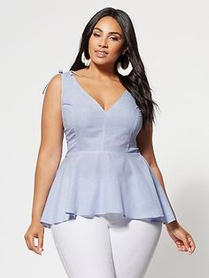 Corrie Peplum Top - Fashion To Figure - FTF Corrie Peplum Top – New York & Company Source by livfasd - Plus Size Peplum, Plus Size Dresses, Plus Size Outfits, Dresses Uk, Lounge Dresses, Evening Dresses, Pageant Dresses, Denim Dresses, Shift Dresses