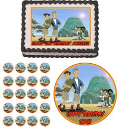 WILD KRATTS Edible Cake Topper Cupcake Image Decoration Birthday Party