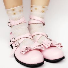 030d9d144da Custom Made Lolita Baby Pink Bow Shoes SP168069