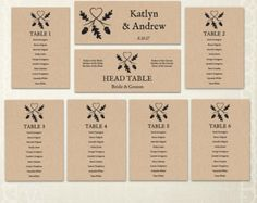 Vintage Wedding Seating Chart template Header Signs and Table