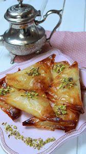 No Cook Desserts, Vegan Dessert Recipes, Entree Recipes, Cooking Recipes, Lebanese Recipes, Turkish Recipes, Greek Recipes, Puff Pastry Recipes Savory, Pasta Filo