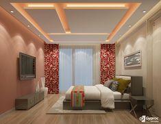 Gypsum Ceiling Design Bedroom False Bed Modern