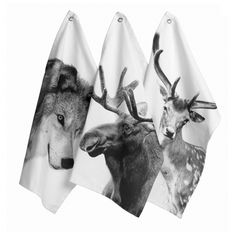 By+Nord+Animal+Photoprint+Tea+Towels