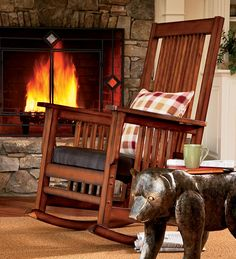 A rocking chair and an open fire to cook roast chestnuts on