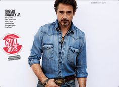 Robert Downey Jr. - one of People's sexiest man 2012 - wow looking good.