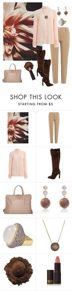 """Blushing Date🍷🌺"" by parnett ❤ liked on Polyvore featuring Anthropologie, Brunello Cucinelli, Hermès, Prada and Lipstick Queen"