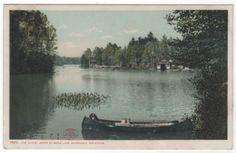 DPC The Outlet Upper St Regis Lake Adirondack Mountains NY New York Vintage Postcard