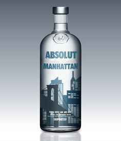 Absolut Manhattan  Honestly, Absolut has some of the BEST packaging I've seen. It's always so beautiful.