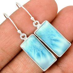 Larimar - Dominican Republic 925 Sterling Silver Earrings Jewelry LRIE1192