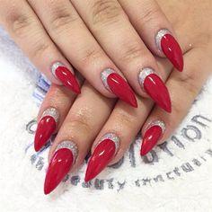 Festive Stiletto nails  by Emmapbrock from Nail Art Gallery