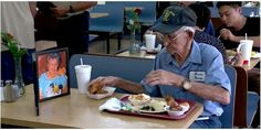 This 93-Year-Old Georgia Man Takes His Late Wife's Photo to Lunch Every Day http://ctrylv.co/NvdDNSr - Country Living - Google+