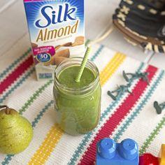 1 Cup Spinach ½   Bananas 1 Chunk Zucchinis ½   Pears 1 Teaspoon Cinnamon 1 Tablespoon Hemp Seeds 1 Cup Silk® Almondmilk