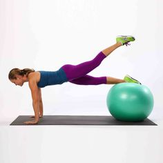 Best Stability Ball Exercises | POPSUGAR Fitness