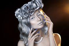 #fatimanasir #creative #makeup #makeupartist #chanelmakeup #kryolan #icequeen #swarovskielements #essie Chanel Makeup, Facebook Business, Ice Queen, Dark Beauty, Veronica, My Photos, People, Creative Makeup, Essie